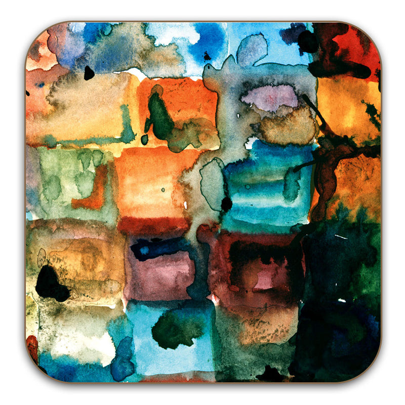 Watercolour Blocks - Watercolour & Ink Drinks Coaster