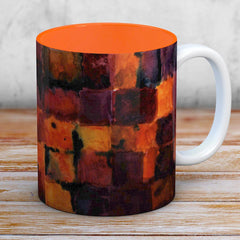 Wine Watercolour Paint Mug - Orange Interior