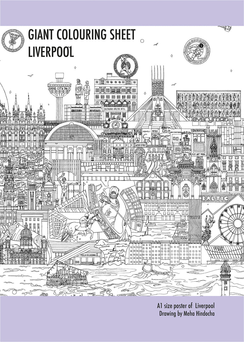 Liverpool Skyline - A1 Size Giant Colouring Poster