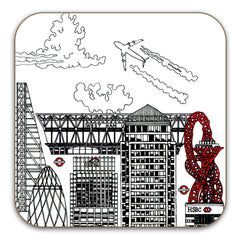 London skyline Black and White - 6 coaster Set