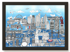 LONDON SKYLINE PRINT - BLUE