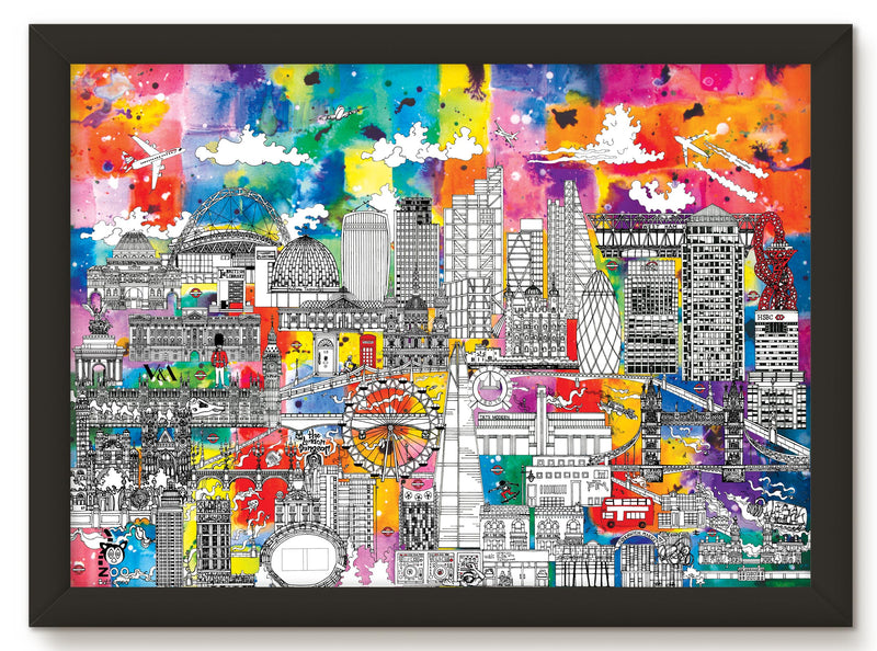 LONDON SKYLINE PRINT – COLOUR