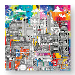 London Skyline Greeting Card in Colour - Blank Inside