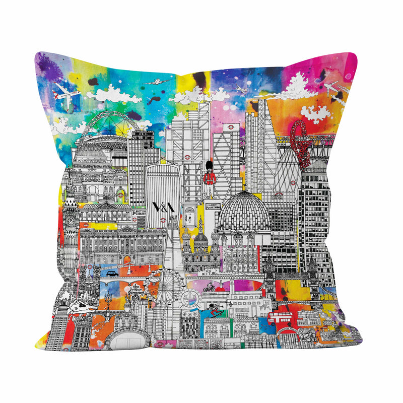 London Skyline IN COLOUR SOFT CUSHION