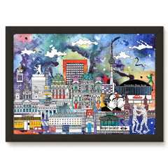 Berlin Skyline Print - Colour