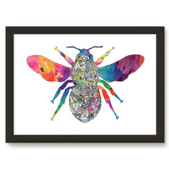 Manchester Worker Bee Print - White Background