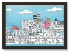 Northern Quarter & Ancoats, Manchester (50 windows of creativity) - Art Print