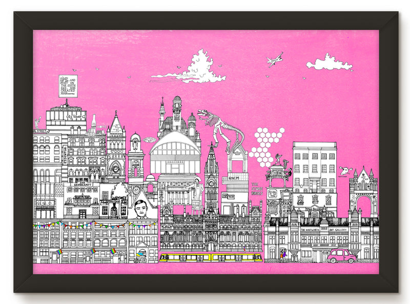 Canal Street, Manchester (50 windows of creativity) - Art Print