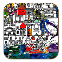 Manchester Skyline Coasters Set of 6 - colour