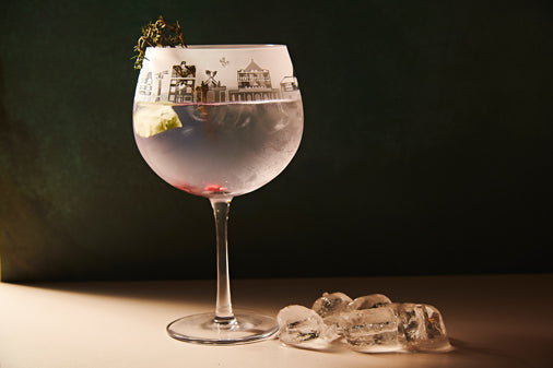 Didsbury Skyline Gin Glass