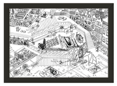 Harry Potter meets MC Escher Print – Black and White