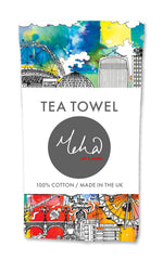 London Skyline MultiColoured Tea Towel
