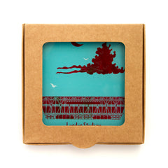 London Stadium Glass Coasters - 2 Set