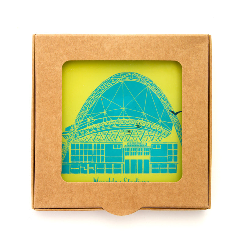 Wembley Stadium Glass Coasters - 2 Set