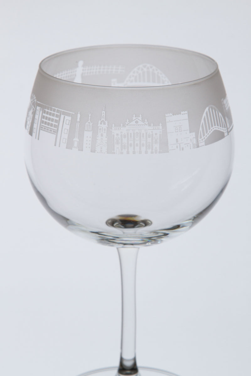 Newcastle Skyline Gin Glass