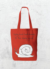 Red Snail Totebag