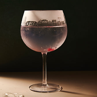 Leeds Skyline Gin Glass