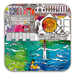 Liverpool Skyline Coasters - Set of 6
