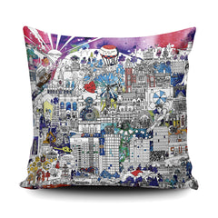 Sheffield Skyline - Soft and Snuggly Cushion