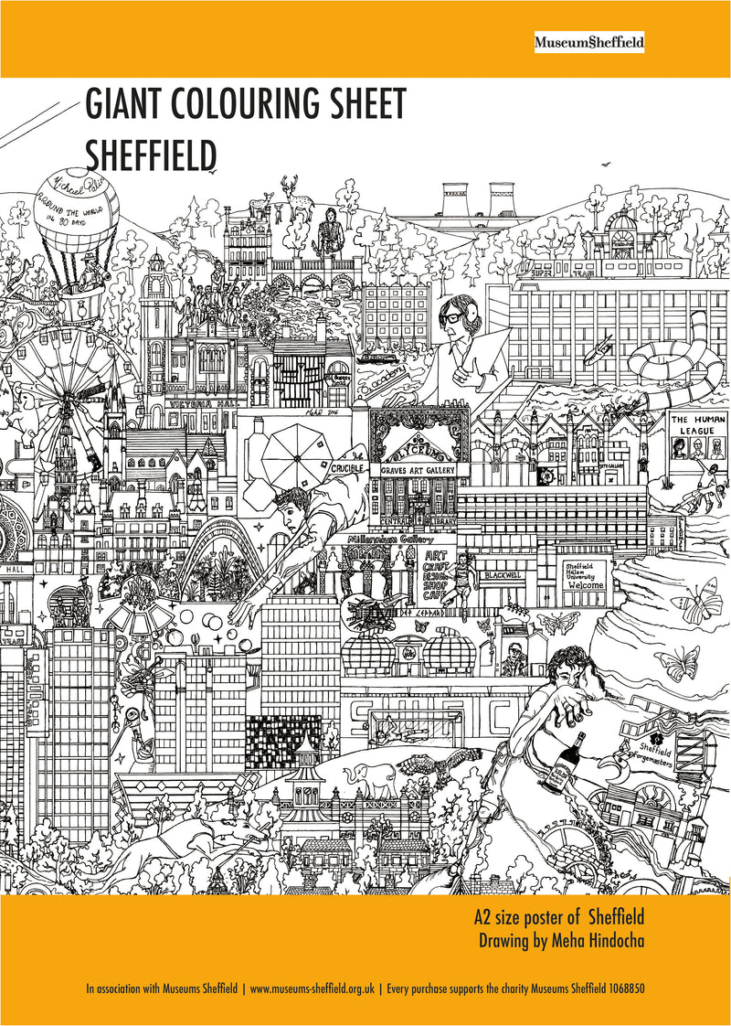 Sheffield Skyline Giant Colouring Sheet