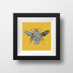 Manchester Bee on Mustard Background
