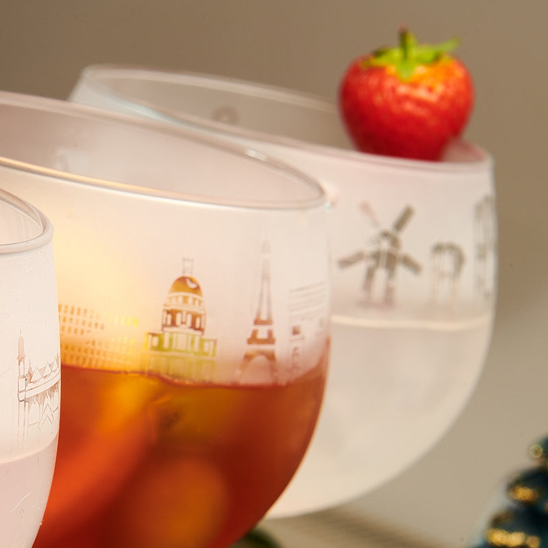 Paris Skyline Gin Glass