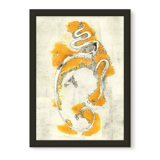 Yellow Elephant 2 | Abstract Work | MehaArt