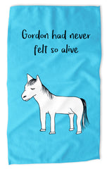 Gordon Had Never Felt So Alive - Blue Tea Towel