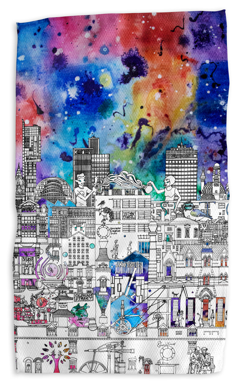Industrial Manchester in Colour Tea Towel