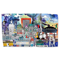 Berlin Skyline in Colour - Tea Towel