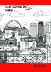 London Skyline Colouring Sheet