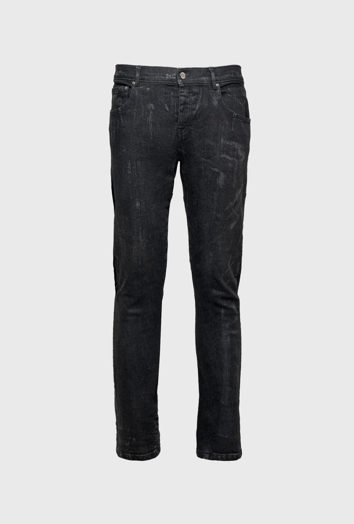 5 POCKET SLIM FIT JEANS WITH TWISTED SEAMS