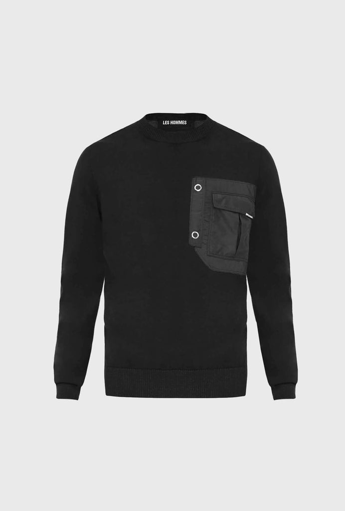 CLASSIC FIT JUMPER IN FINE GAGE NYLON FR. POCKET