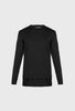 RELAXED FIT FINE GAUGE JUMPER WITH NYLON DETAIL