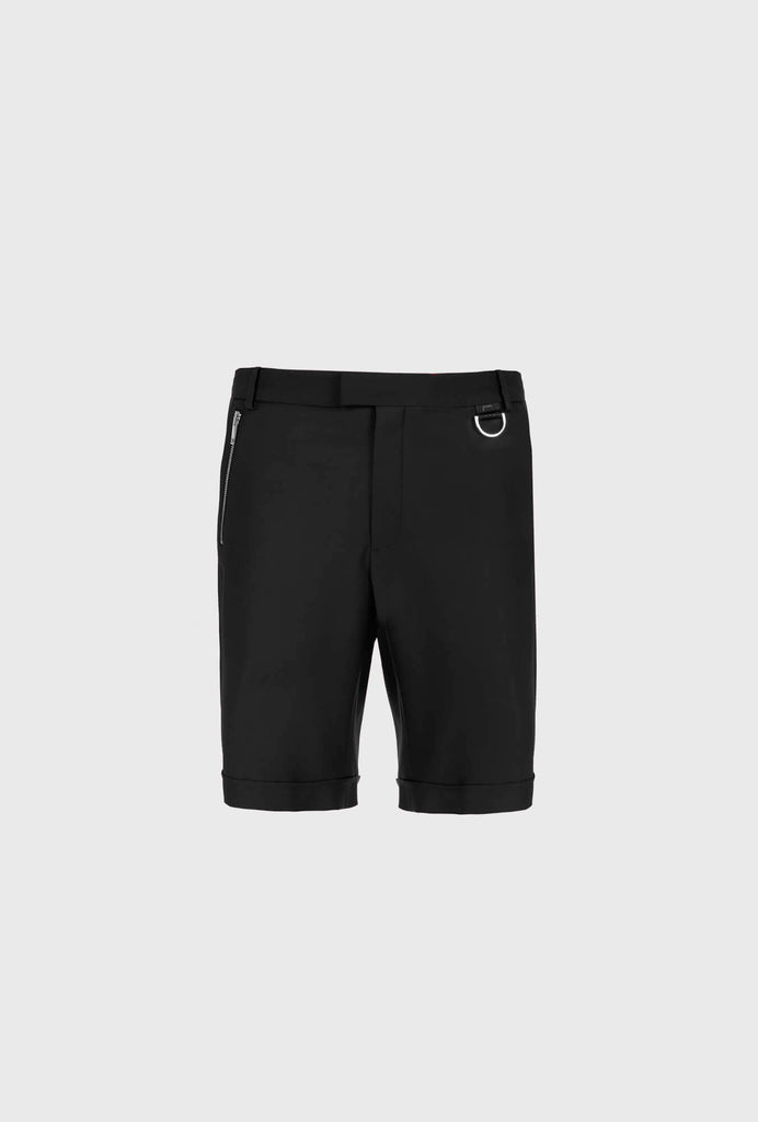 CLASSIC SLIM FIT SHORTS WITH ZIP DETAIL