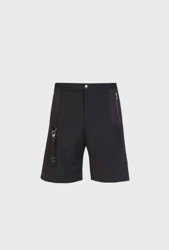 CASUAL FIT SHORTS IN WOOL WITH NYLON INSERT