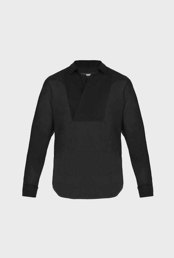 REGULAR FIT POPLIN STRETCH SHIRT WITH LONG SLEEVES