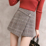 Line Mini High Waist Skirts Shorts