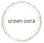 Green data logo small round