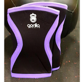 Gorilla Health Knee Sleeves - 7mm - Purple Trim