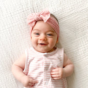 Light Pink Polka Dot Headband