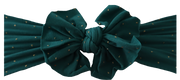 Green and Gold Polka Dot Bow