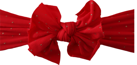 Red and Gold Polka Dot Bow
