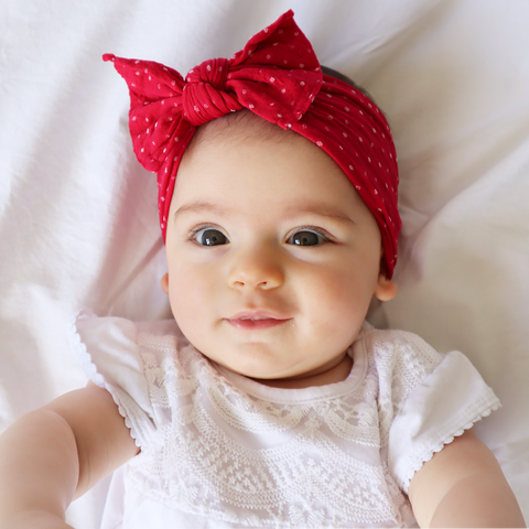 Red Polka Dot Headband