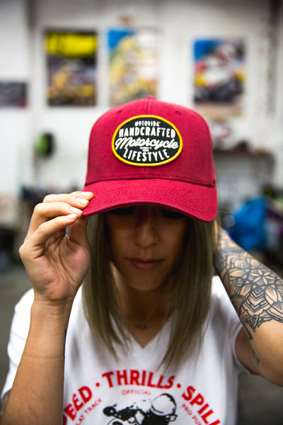 "MotoVida ""Handcrafted Motorcycle Lifestyle"" Hat"