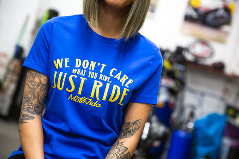"MotoVida ""Just Ride"" Ladies' T-Shirt"