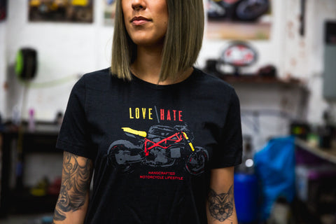 MotoVida Love / Hate Ladies' T-Shirt