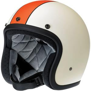 Biltwell Bonanza Racer Flat Cream Orange