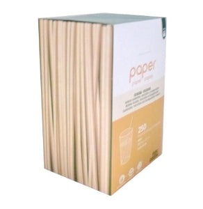 Kraft Paper Straws (Wrapped) - 6mm x 200mm (3000)