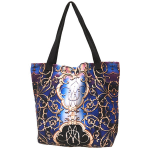 Blue And Purple Tribal Print Tote Bag